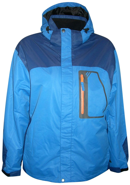 Pulse/Iceburg Mens 3in1 Ski Jacket Coat S-XL (Large, Blue/Navy/orange)