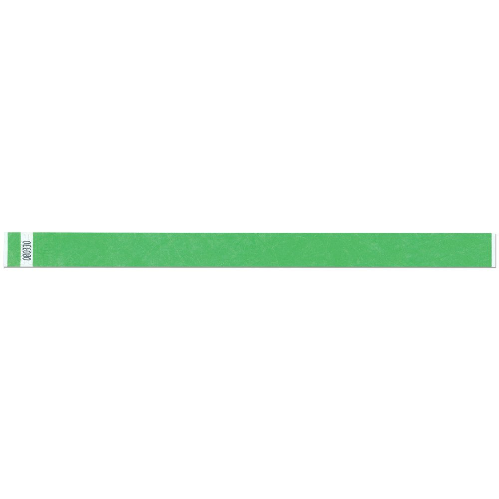 3/4 Inch Tyvek Tytan-Band® Wristbands - Economical Comfortable Tear Resistant - Lime - 500 Pieces Per Box