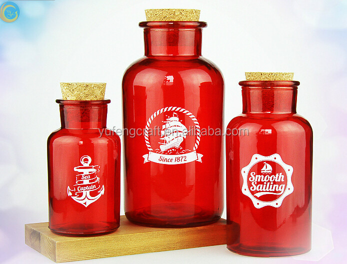 nautical blue sail glass bottles for personal care oils factory supplier