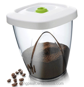 2018 Best Ing Air Leakage Proof Food Storage Containers Plastic Vacuum Coffee Beans Container