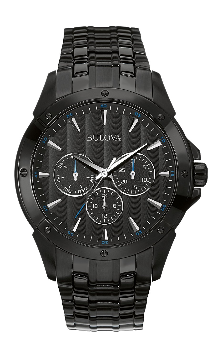abb40a081 Get Quotations · Bulova Men's 98C121 Sport Analog Display Japanese Quartz  Black Watch