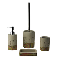 BX Group new design factory supply cement bathroom accessories set