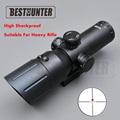 VISM 4X50 Red Dot Scope Reticle Fiber Sight Scope Rifle Big Caliber Super Shock Proof Riflescope