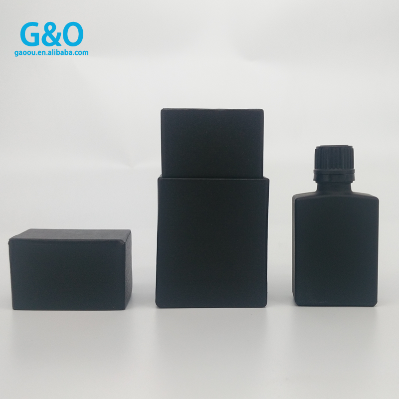 Europe 30ml Matte Black Rectangle E Liquid Smok Oil Square Glass Dropper  Bottles For Beard Oil Essential Oil With Pipette - Buy Europe 30ml Matte