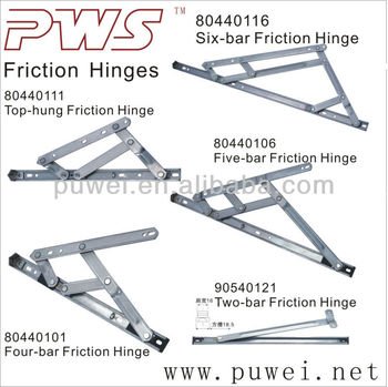 High Quality 304SS Stainless Steel Friction Hinge Stay Arms Heavy Duty  Friction Window Hinge Stay For