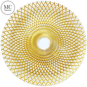 Glass charger plates wholesale for wedding and events