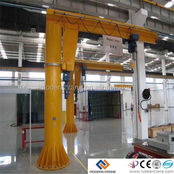 Jib Crane Usage : Floor mounted ton pillar hoist small jib crane