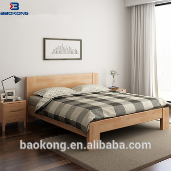 Modern Bedroom Furniture Pure Solid Wood Master Room Double Bed Design -  Buy Solid Wood Plank Bed,Wood Double Bed Designs,Solid Wood Bed Crown  Product ...