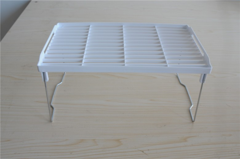 China Distributor Expandable Stackable Kitchen Rack plastic