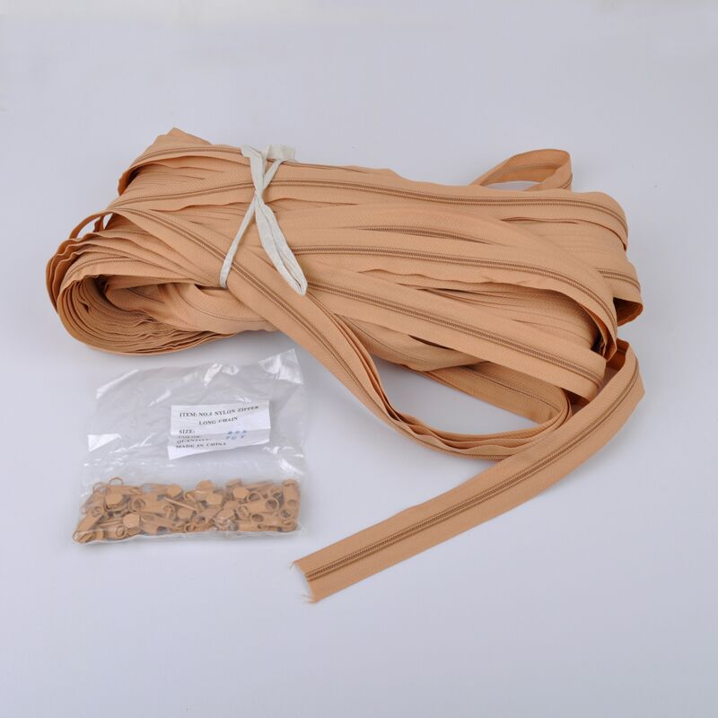 5# nylon zipper for roll,Close-End plastic zipper roll, custom wiring accessories plastic nylon zipper
