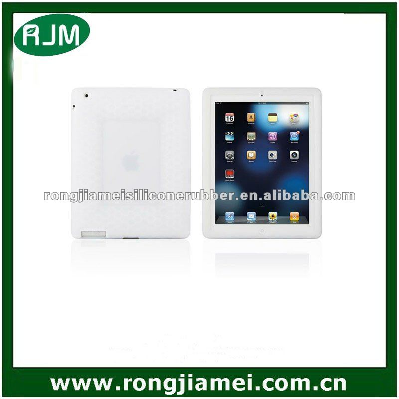 Waterproof White Elegant Skin Rubber Accessory Case Silicone Cover For Ipad2 Ipad3
