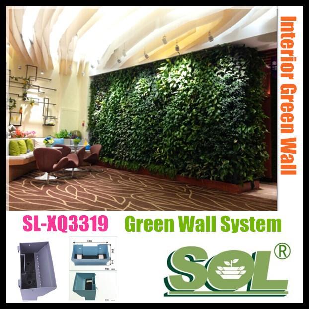 Verticale tuin potten artifici le sl xq3319 groene muur for Verticale tuin systeem