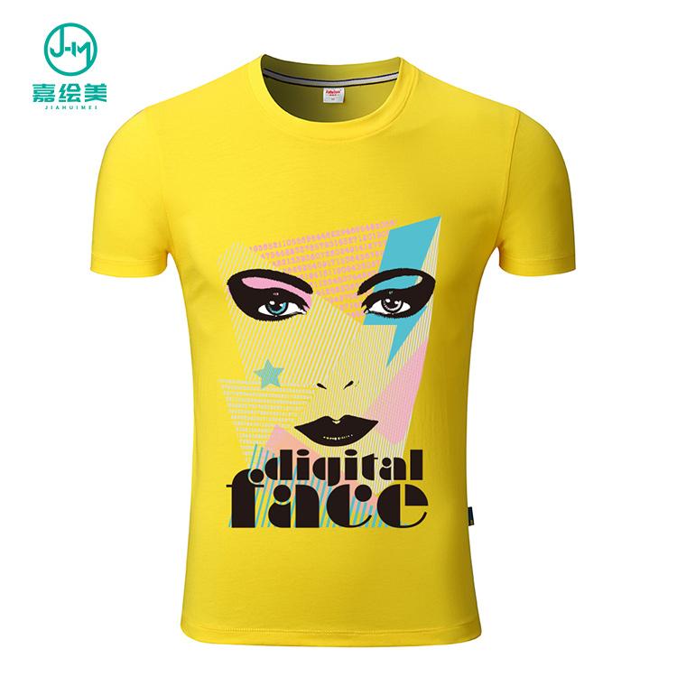 JHM 高品質 100% 有機ポリエステル Tシャツ印刷カスタム、卸売カスタム印刷 Tシャツ