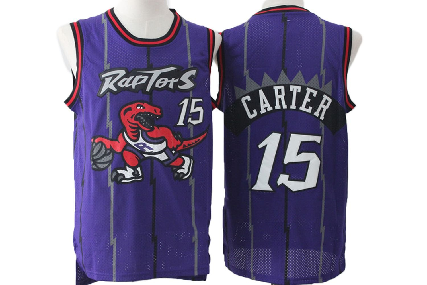 new concept 3f8f9 e3f8e Buy Vince Carter #15 Toronto Raptors Purple Throwback Jersey ...