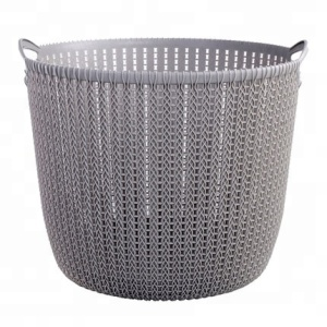 VOZVO Plastic dirty clothes laundry storage basket mesh plastic laundry basket