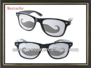 11162fe3885c Mustache sunglasses with custom logo stickers pinhole lens sunglasses