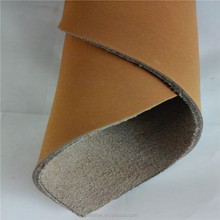 Bycast cow nubuck leather for shoes