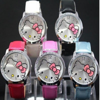 waterproof pink kitty watch popular sweety girl hello kitty watch