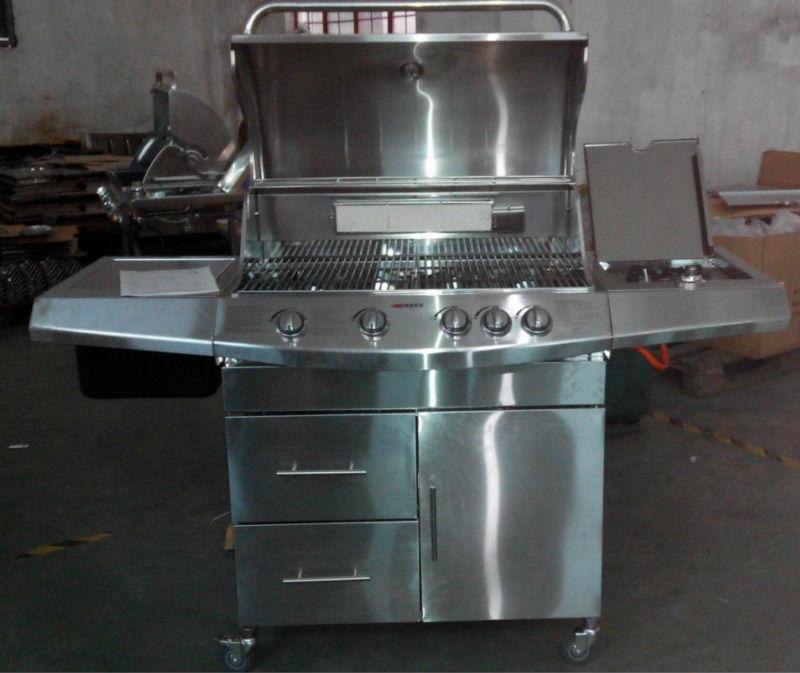 Mewah Luar Dapur Alat 4 Utama Kompor Gas Bbq Grill Dengan Inframerah Burner