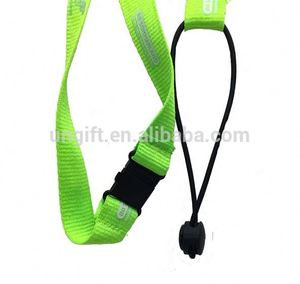 High quality Fluorescent green silk-screen lanyards with custom logo
