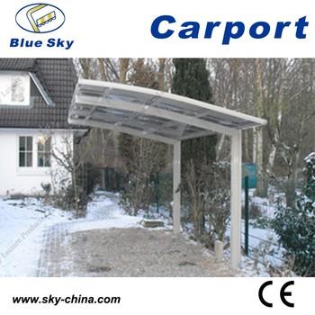 Polycarbonaat En Aluminium Carport Groene Schaduw Netto Zonnescherm ...