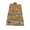 Natural Golden Wooden Culture Wall Cladding Slate Stone