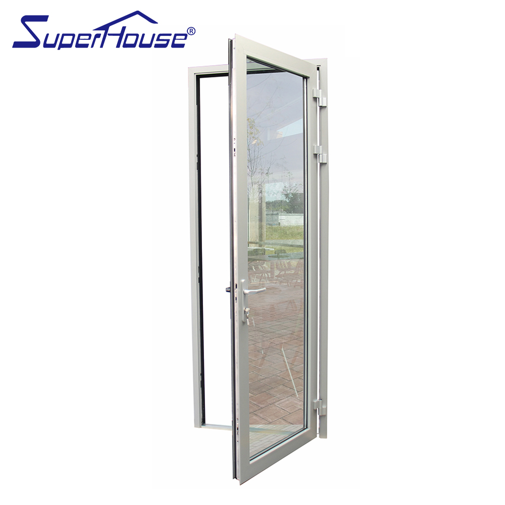residential custom exterior tempered glass french patio doors design