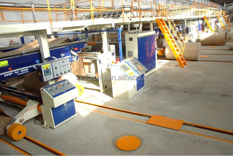 WJ200 - Type II five layer corrugated board production line