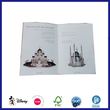woodfree paper Handmade promotion brochure with staple binding