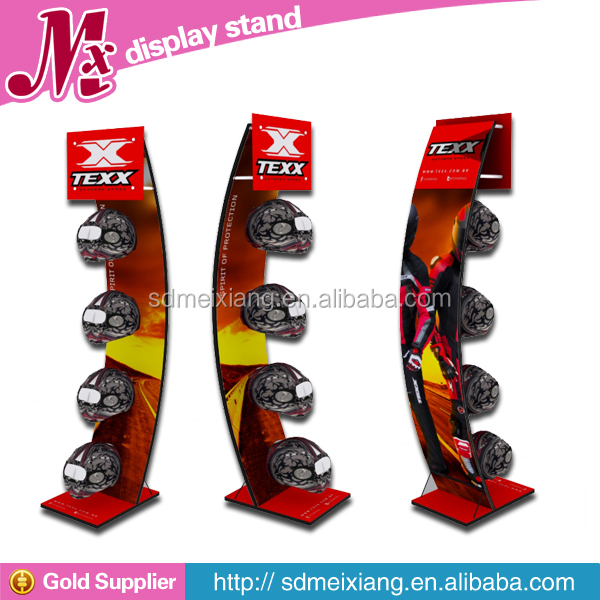 MXJ012 motorcycle helmet display stands / metal display rack / metal floor stand