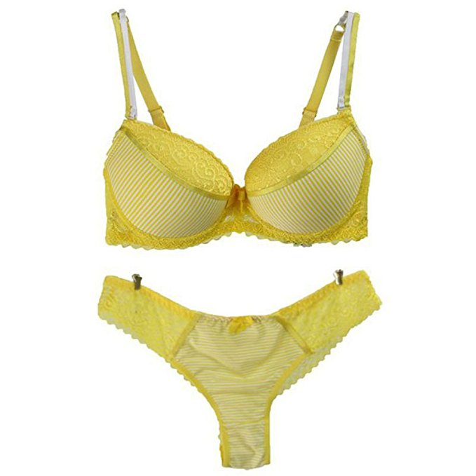 9cbc231c3 New Design Cute Yellow Beautiful Girl Hot Sex Sexy Bra And Panty Set ...