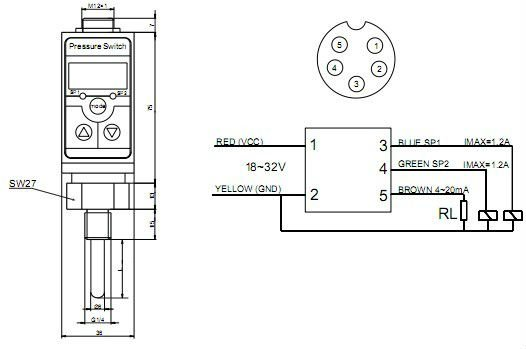 two relay output 4 digit display digital pt100 temperature switch