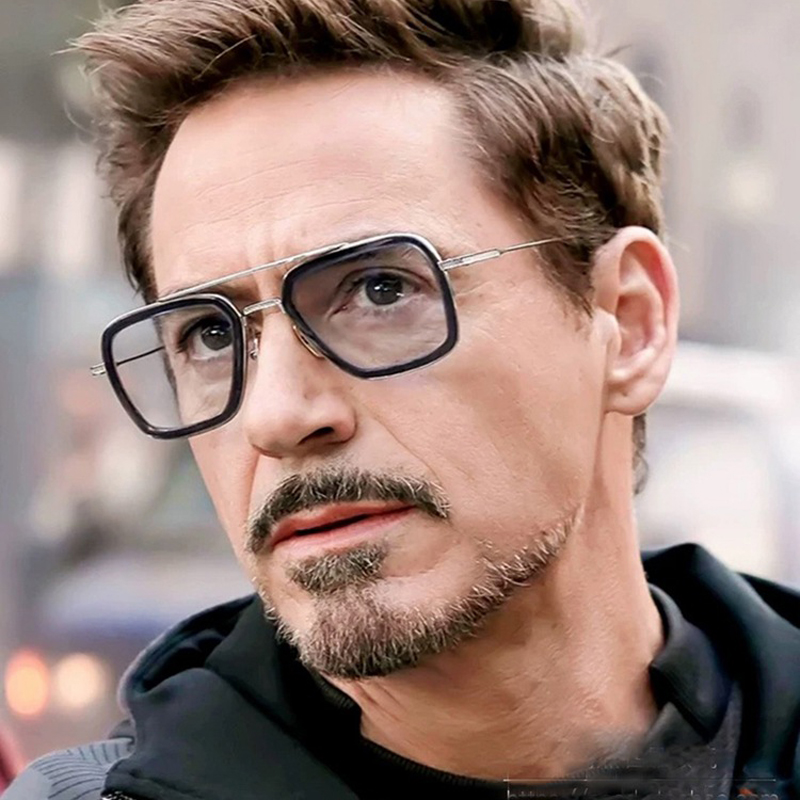 HBK 2019 Vendicatori Iron man occhiali endgame Tony Stark Occhiali Da Sole Quadrati K40031