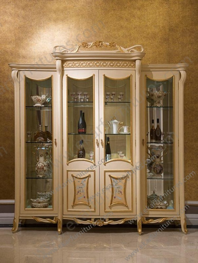 Royal style furniture Oriental furniture Wooden Crockery Cabinet ...