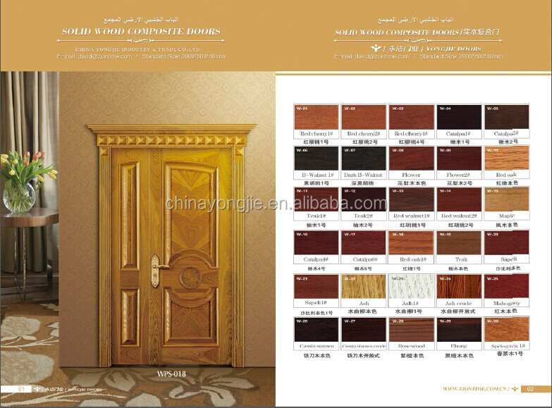 Yongjie quality interior meranti oak teak mahogany veneer for Wooden main door design catalogue