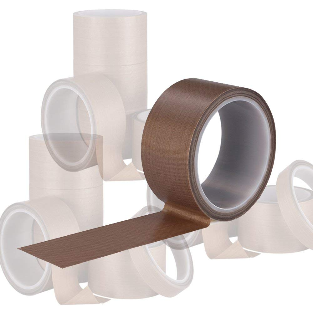 Skived PTFE 5 mil w// Silicone Adhesive 1//2 inch x 36 yards Teflon Tape