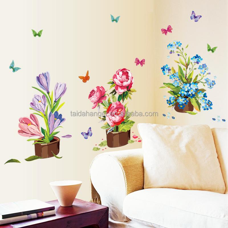 Diy stickers muraux d cor la maison en pot pot de fleur - Stickers fenetre cuisine ...