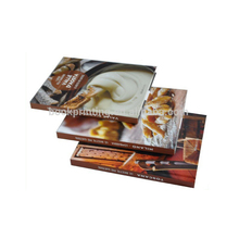 Hardcover colorful cookbook recipe book printing