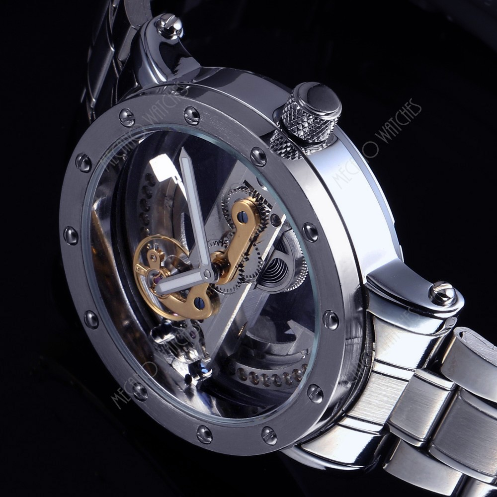 100% Factory Directly Private Label Stainless Steel Watch Men Automatic Skeleton Mechanical Luxury Watch