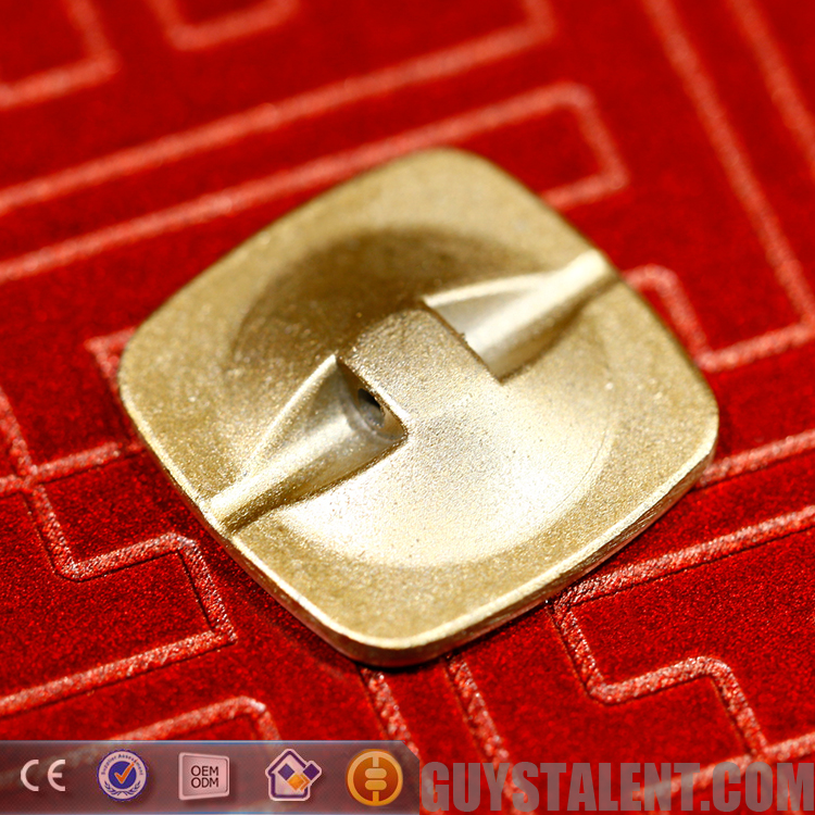 Custom private design sew metal square snap button for apparel