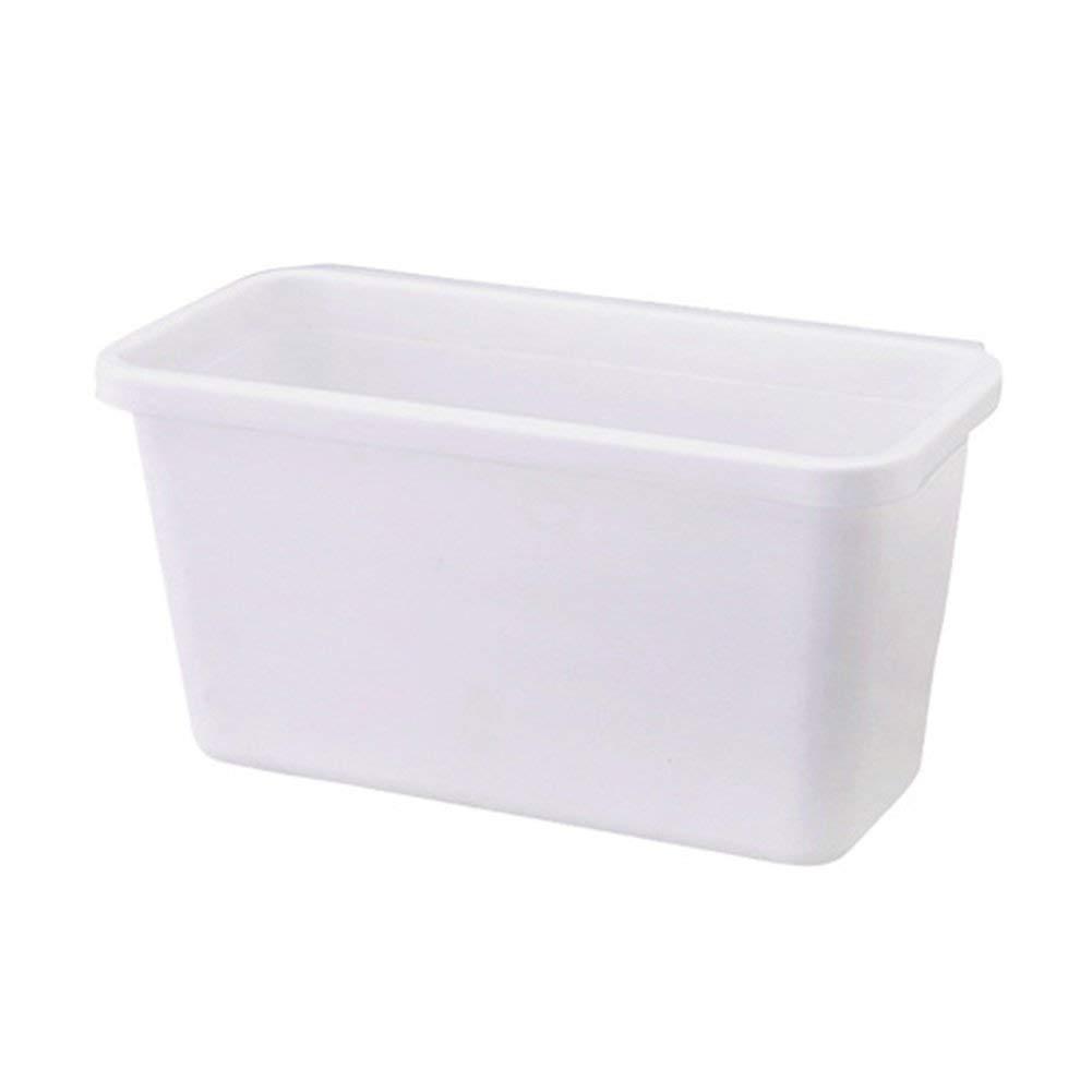 HaloVa Trash Can, Creative Multifunctional Hanging Waste Bin, Deskside Recycling Kitchen Wastebasket for Kitchen Cabinet Desktop, White, Small