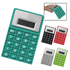 OEM design promotional A6 size L shaped flat business office cell battery operated 8 digital plastic big size desktop calculator