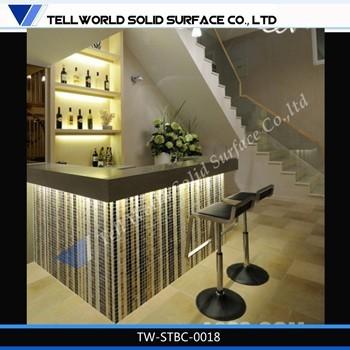 Luxury Bar Counter Designs, Home Wine Mini Bar Counter Modern Design