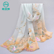 Factory directly printing coloured chiffon scarves wholesale ,extra long chiffon scarf