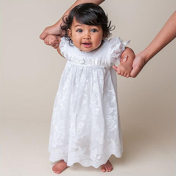 Baby Taufe Kleid Weiß Tulle Infant Prinzessin Taufe Kleid Kleinkind Baby Mädchen Party Hochzeit Kleider Größe 3 24 Mt Buy Baby Taufe Kleid Weiß