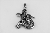 Lizards necklace restoring ancient ways is titanium steel casting gecko pendant domineering personality jewelry