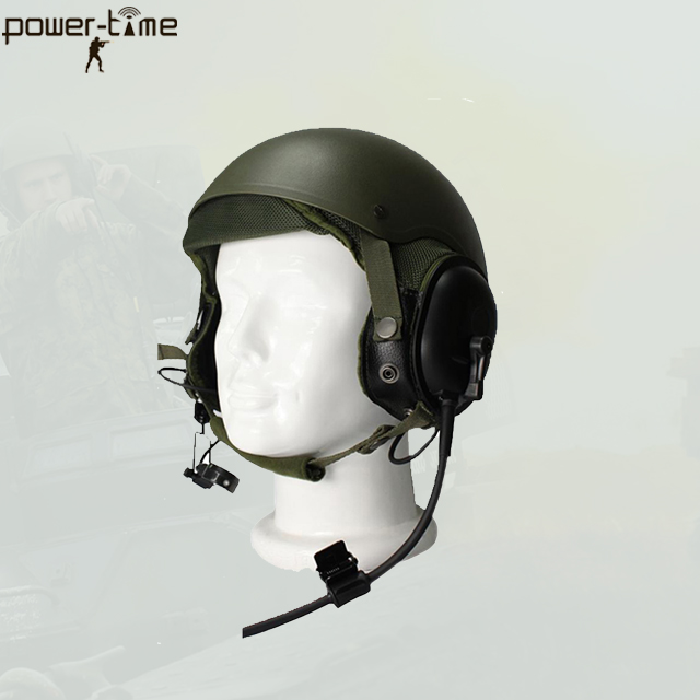 Thales VIPER Mounted Rifleman Radio System headset with ballistic helmets headset PTE-747