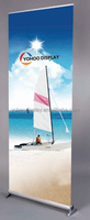 New design Custom aluminum retractable rollup banner stands