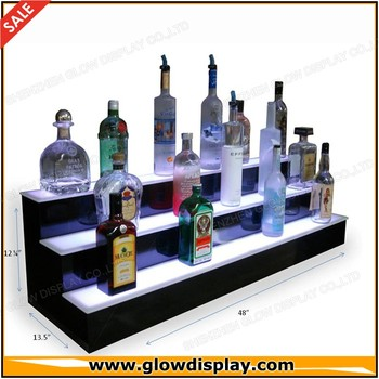 led light liquor shelf bottle shelves bar display buy led light rh alibaba com bar display shelving units bar display shelves uk