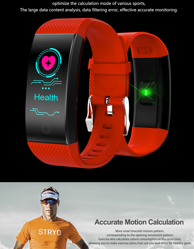 QW18 Smartwatch Health Fitness Tracker Wrist band Heart Rate Monitor  Pulsometer Smart Bracelet Clock Watch IP68, View QW18 Smart Bracelet, OEM  Product